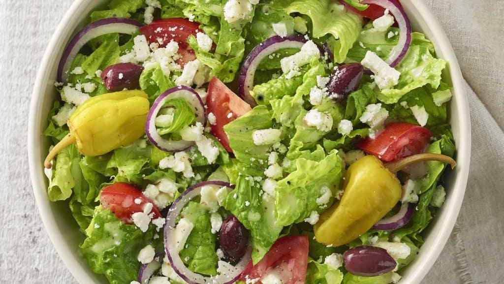 fast food options low carb keto greek salad panera