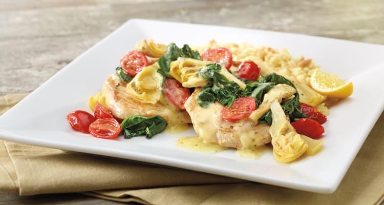 lemon artichooke chicken village inn low carb diet meal options entrees