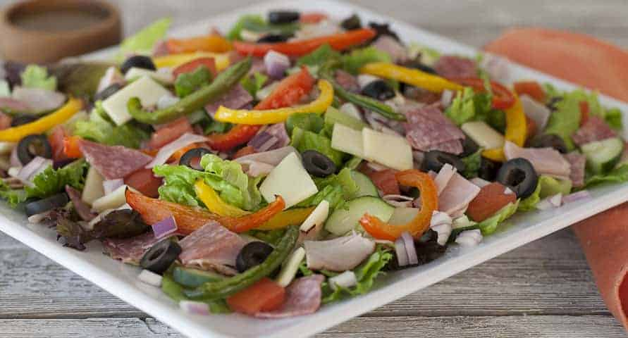 low carb keto friendly salad mcalisters italian chopped salad